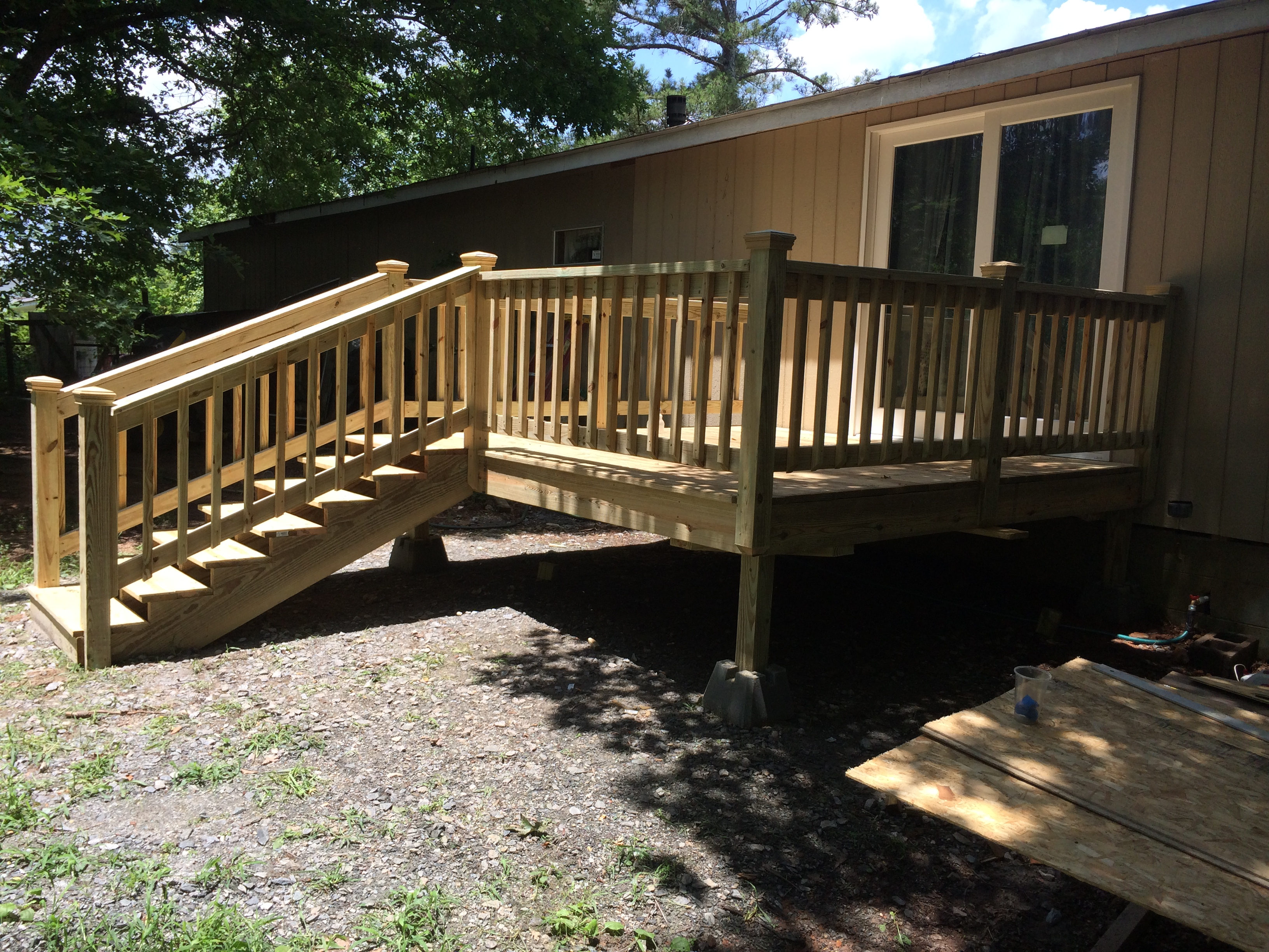 completed deck construction