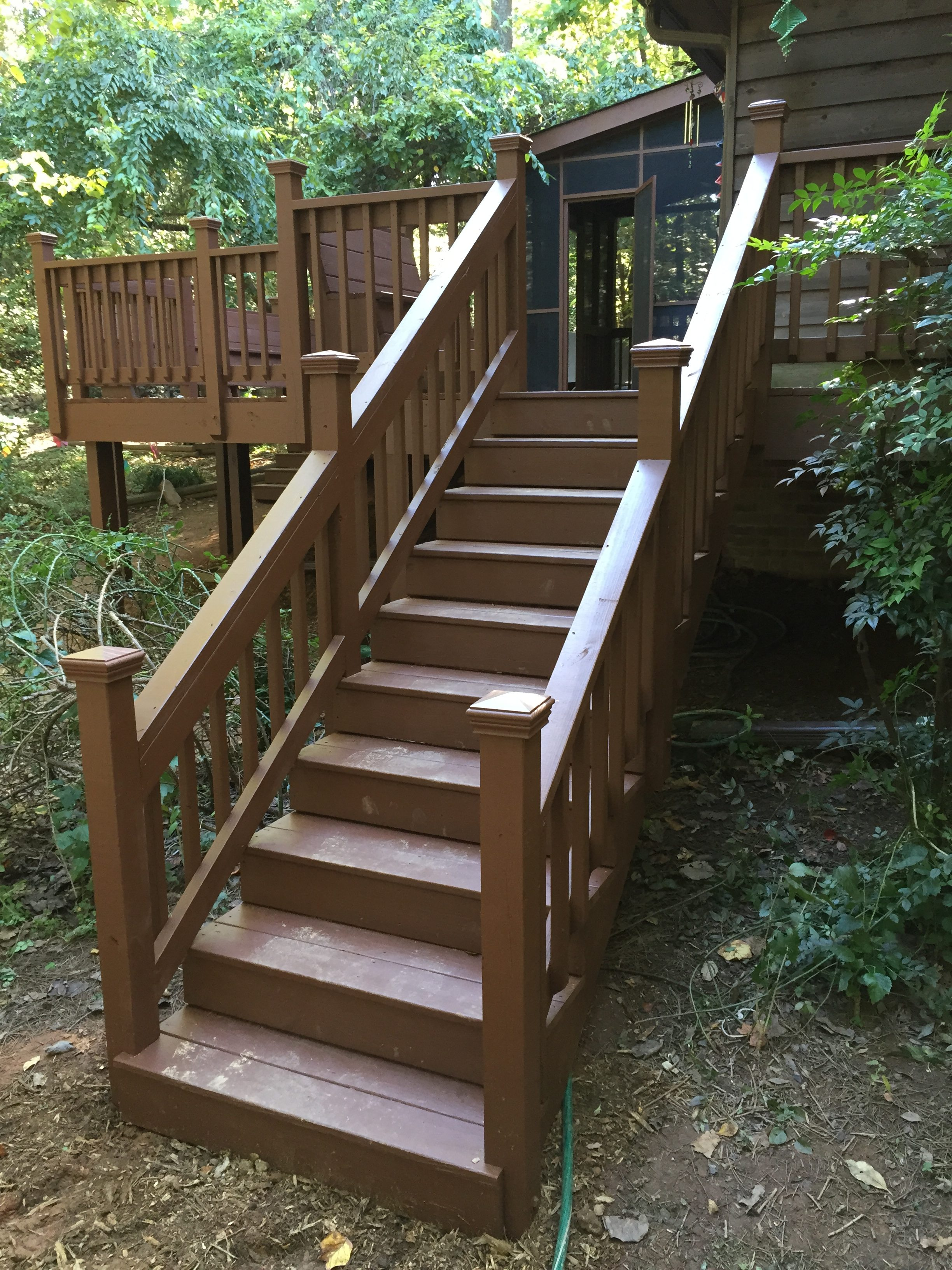 restored deck and handrails