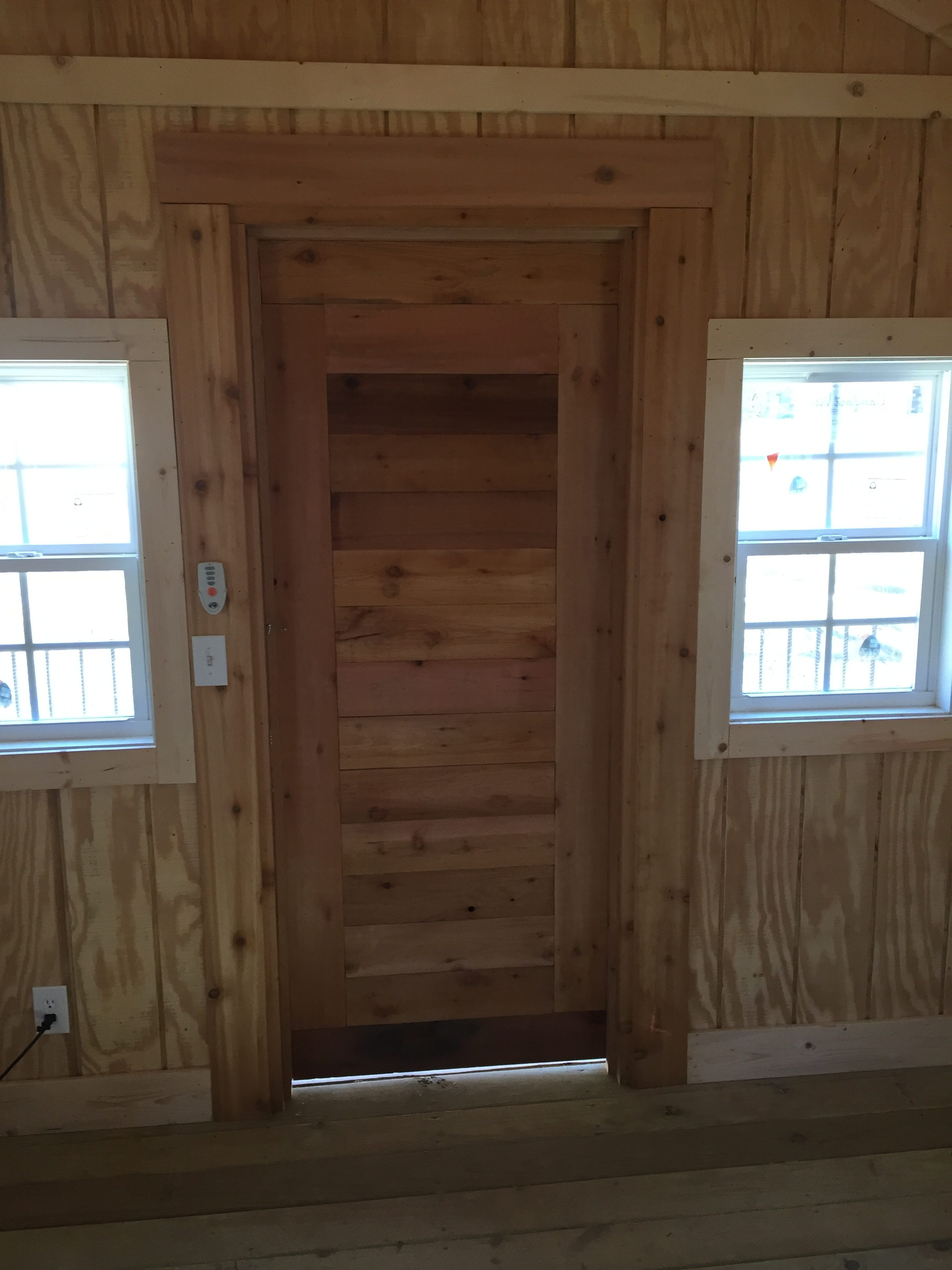 custom cedar walls and door66666